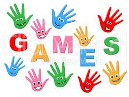 Games Kids Indicates Play Time And Child