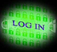 Log In Shows World Wide Web And Encryption