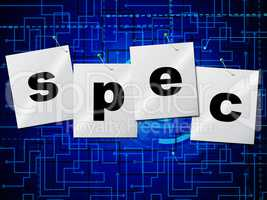 Spec Designs Means Plan Creativity And Designed