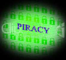 Piracy Copyright Indicates Protect Registered And Trademark