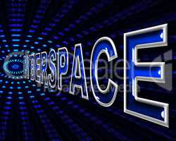 Cyberspace Internet Represents World Wide Web And Digital