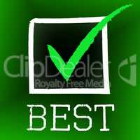 Best Tick Indicates Number One And Approved
