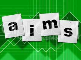Aiming Aims Represents Objective Target And Goal
