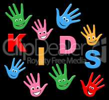 Play Kids Represents Free Time And Playtime