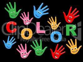 Handprints Colorful Indicates Vibrant Child And Creativity