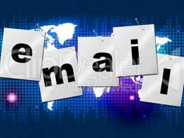 Emails Email Indicates Send Message And Communicate