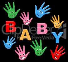 Baby Hands Represents Parenthood Newborn And Parenting