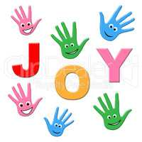 Joy Kids Shows Happy Youngsters And Child