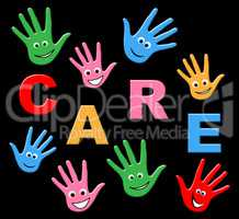 Kids Care Indicates Look After And Careful
