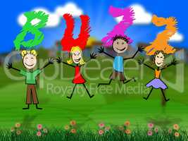 Buzz Kids Represents Public Relations And Excitement