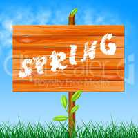 Nature Spring Shows Seasons Environmental And Countryside