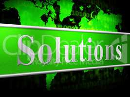 Solution Solutions Shows Succeed Success And Advertisement