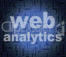 Web Analytics Represents Websites Usage And Online