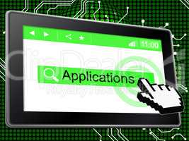Applications Online Means World Wide Web And Net