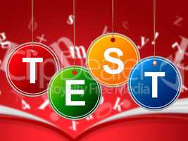 Test Education Represents Educated Educating And Schooling