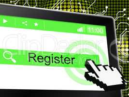 Online Register Shows World Wide Web And Admission