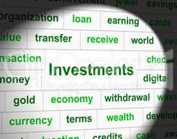 Investments Invest Represents Invested Investing And Shares