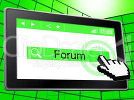 Forum Online Shows World Wide Web And Chat