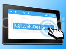Web Design Represents Online Www And Websites