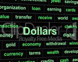 Dollars Finances Represents United States And American