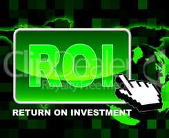 Button Roi Means World Wide Web And Investments