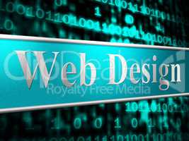Web Design Indicates Websites Www And Website