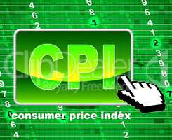 Consumer Price Index Represents Web Site And Website