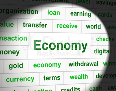 Finances Economy Shows Accounting Business And Figures