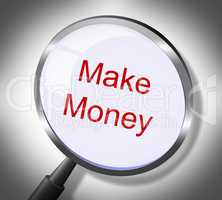 Make Money Represents Searches Earnings And Wages