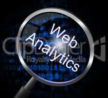 Web Analytics Indicates Magnifier Magnify And Report