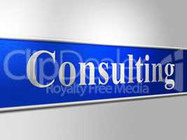 Consult Consulting Indicates Refer To And Ask