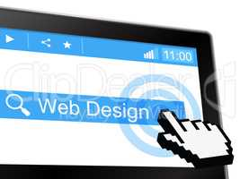 Web Design Represents Website Searching And Network