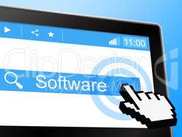 Software Online Represents World Wide Web And Programming