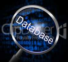 Magnifier Databases Represents Searching Magnification And Searches