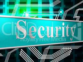 Security Secure Shows Password Secured And Encrypt
