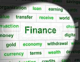 Economy Finance Means Earnings Accounting And Investment