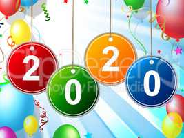 New Year Shows Celebrate Party And Fun