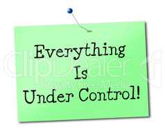 Under Control Means Display Advertisement And Placard