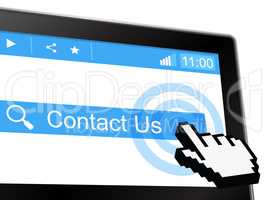 Contact Us Shows Send Message And Communicate