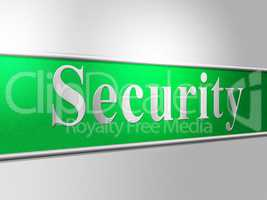 Security Secure Represents Protect Encrypt And Protected