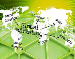 Global Marketing Shows Globalisation Sales And Earth