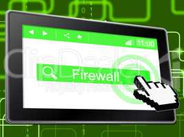 Online Firewall Represents World Wide Web And Defence