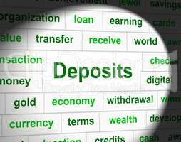 Deposit Deposits Represents Part Payment And Business
