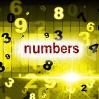 Mathematics Numbers Shows One Two Three And Calculate
