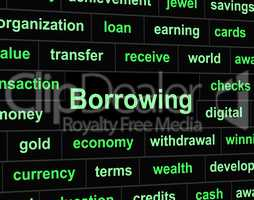 Borrow Debt Shows Arrears Finance And Liability