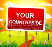 Your Countryside Indicates Landscape Owned And Picturesque