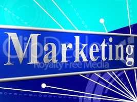 Marketing Promotion Shows Merchandise Sale And Offer