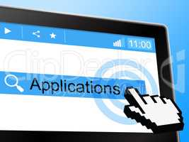 Applications Online Shows World Wide Web And Network