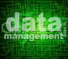 Management Data Represents Organization Authority And Managing