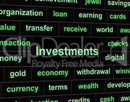 Investments Invest Indicates Portfolio Roi And Investing
